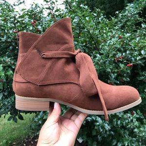 Lane Bryant brown  ankle booties Sz 12 W